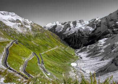 Road to passo stelvio, south tyrol, Italy